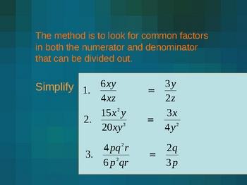 Cambridge International Mathematics PPT 33   –Algebraic Fractions