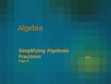 Cambridge International Mathematics PPT 33   –Algebraic