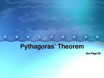 Cambridge International Mathematics PPT 34   –Pythagoras