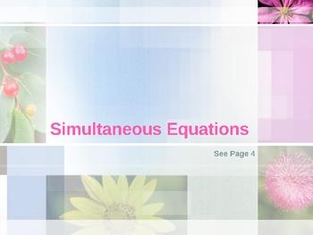 Cambridge International Mathematics PPT 49   – Simultaneous Equations