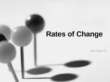 Cambridge International Mathematics PPT 52   – Rates of Change