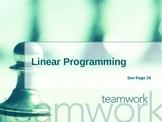 Cambridge International Mathematics PPT 56   � Linear Programming