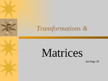 Cambridge International Mathematics PPT 57   – Matrix Transformations
