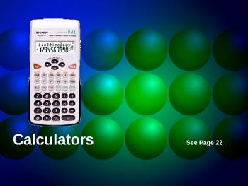 Cambridge International Mathematics PPT Eleven – Calculators
