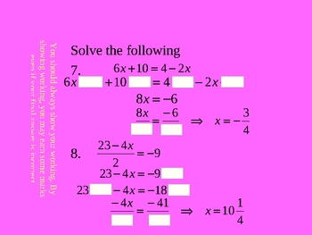 Cambridge International Mathematics PPT Nine - Linear Equations