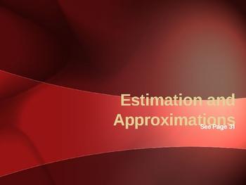 Cambridge International Mathematics PPT Seventeen –Estimation