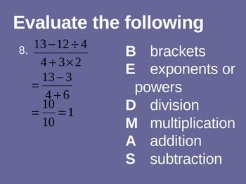 Cambridge International Mathematics PPT Six – Order of Operations