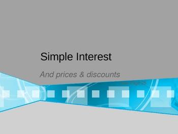 Cambridge International Mathematics PPT Thirteen –Simple Interest