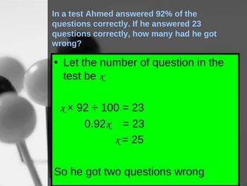 Cambridge International Mathematics PPT Twelve –Percentages