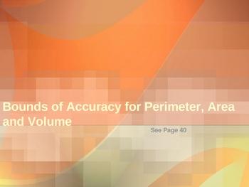 Cambridge International Mathematics PPT Twenty –Bounds of Accuracy