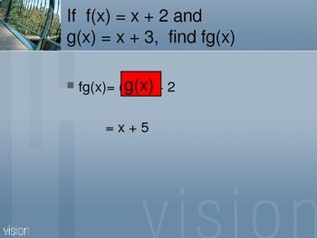 Cambridge International Mathematics PPT Twenty-nine  –Funct Notation
