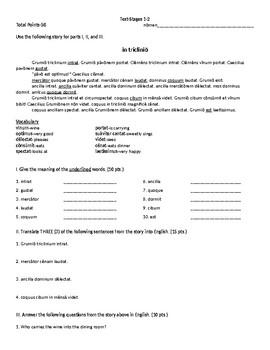 Cambridge Latin Course Stage 1-2 Test