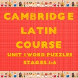 Cambridge Latin Course Unit 1 Stages 1-6 Vocab Puzzles
