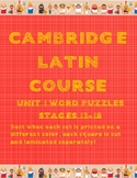 Cambridge Latin Course Unit 1 Stages 13-18 Vocab Puzzles