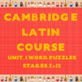 Cambridge Latin Course Unit 1 Stages 7-12 Vocab Puzzles