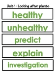 Cambridge Primary Science Vocabulary Word Wall