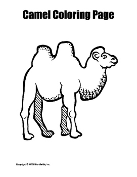 Camel Coloring Page
