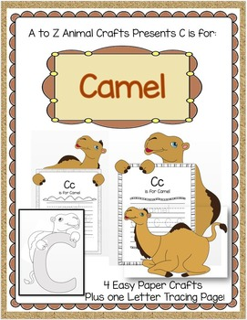 "Camel and Letter ""C"" Crafts and Letter Practice Pages"