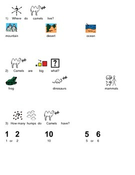 Camel - Picture supported text review article lesson with questions facts PDF