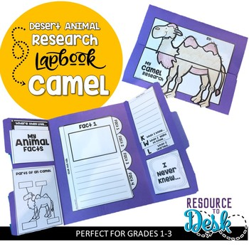 Camel Research Project - A Desert Animal Research Lapbook