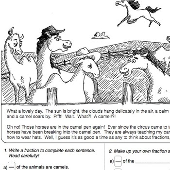 Camels and Horses Fraction Activity