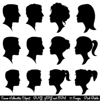 Cameo Silhouettes Clipart