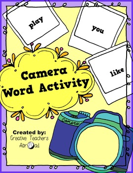 Camera Activity for High Frequency 'Tricky' Words