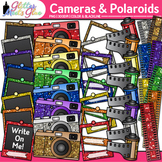 Cameras and Polaroids Clip Art | School Yearbook, End of Year, Scrapbooking Use