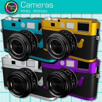 Camera Clip Art {Rainbow Technology Equipment for Digital Photography}