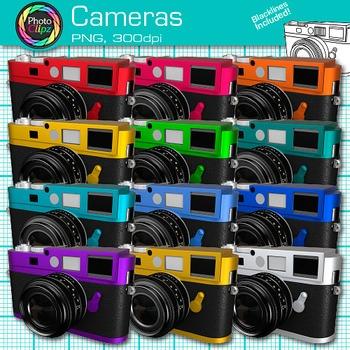 Camera Clip Art {Rainbow Technology Equipment for Digital