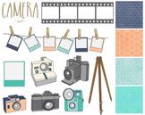 Camera Clipart Paper Set, Camera, Papers, Clipart Set #167