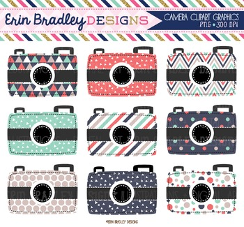 Camera Clipart - Triangles Collection