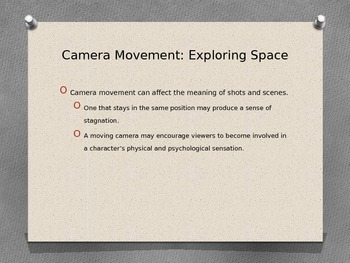 Camera Movement