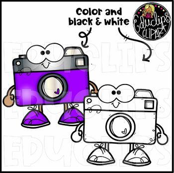 Camera Pals Clip Art Set {Educlips Clipart}
