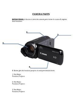 Camera Parts Worksheet