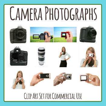 Camera Photograph Clip Art Set for Commercial Use