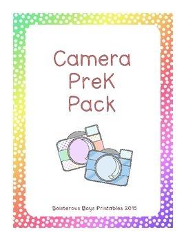 Camera PreK Early Learning Printable Pack