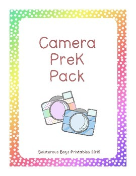 Camera PreK Early Learning Printable Pack