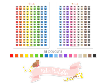 Camera Printable Planner Stickers