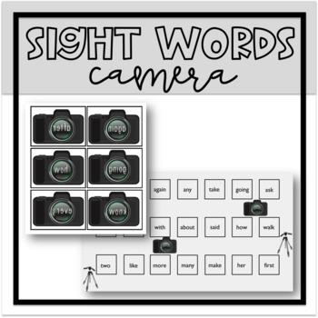Camera Sight Words