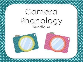 Camera Themed Phonology Bundle #1 for Speech Therapy