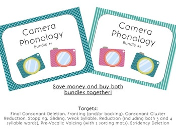 Camera Themed Phonology Bundles 1 & 2 for Speech Therapy