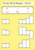 Camera Word/ Sight Word Shapes Activity