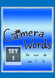 Camera Words Set 1 - Build, Write, Find, Use.
