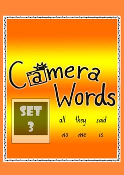 Camera Words Set 3 - Build, Write, Find, Use.