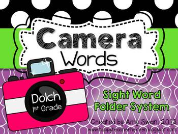 Camera Words - Dolch 1st Grade Sight Word Folder System - Engage Parents!