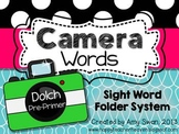 Camera Words - Dolch Pre-Primer Sight Word Folder System  - Engage Parents!