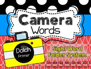 Camera Words - Dolch Primer Sight Word Folder System - Eng