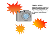 Camera Words with sight word assessment