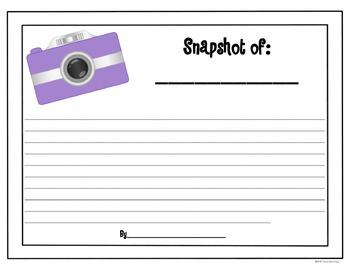 Camera Writing Templates